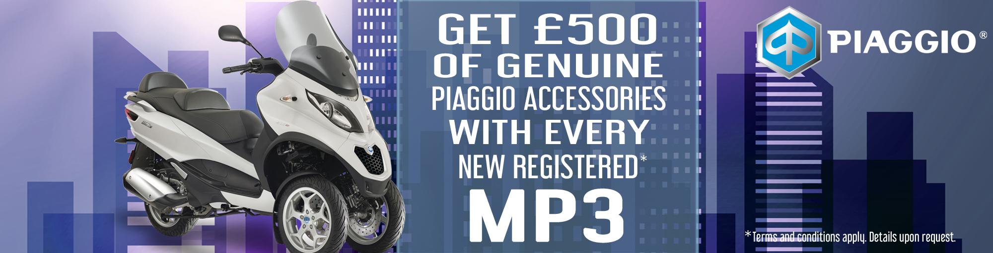 Piaggio MP3 accessories special offer