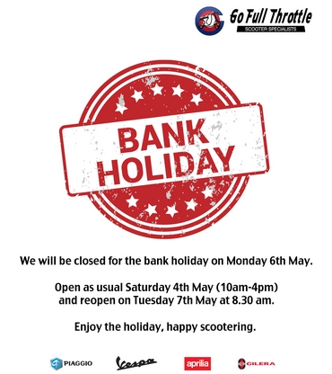May Day Bank Holiday 2019