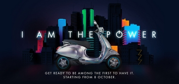 NEW Vespa Elettrica - I am the POWER