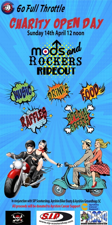 Go Full Throttle Charity Open Day with Mods & Rockers Rideout