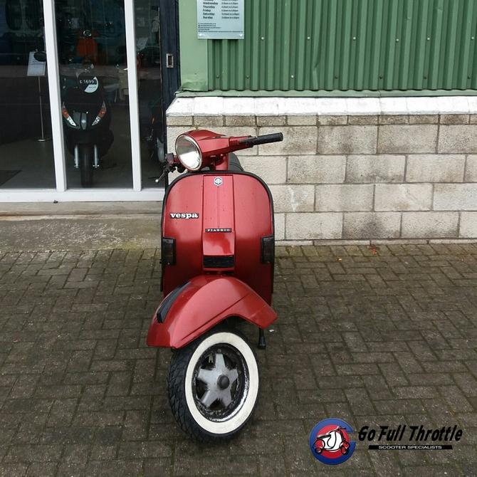 Preloved Vespa Douglas PX150 registered as 125cc