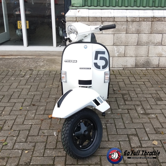 Fully Restored Go Full Throttle Speciale Serie # 5 Vespa Douglas PX150 registered as 125cc